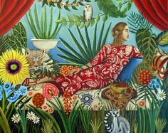 Off The Grid Eve Strikes a Pose my new painting, Catherine Nolin