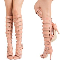 Nude Caged Boots❤️ Our favorite for the Summer! All sizes in stock! Order➡️www.lanierboutique.com