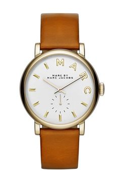 MARC BY MARC JACOBS 'Baker' Leather Strap Watch, 37mm available at #Nordstrom