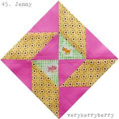 Farmer's Wife QAL: Blocks 45 and 46: Jenny and Jewel
