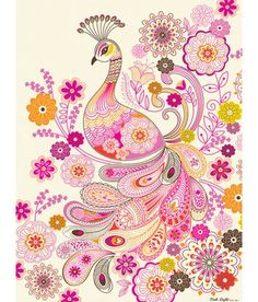 This adorable Paisley Peacock Art Canvas by Oopsy Daisy Fine Art for Kids is a great way to showcase your love for animals in a fresh and modern way. Bird Canvas, Canvas Wall Art, Doodle Inspiration, Painting Inspiration, Logo Inspiration, Peacock Art, Pink Peacock, Peacock Nursery, Peacock Quilt