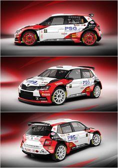 Design for Czech rally driver Antonín Tlusťák and his new car Skoda Fabia Rally Drivers, Rally Car, Racing Car Design, Design Cars, Dog Car Accessories, Car Paint Jobs, Automobile, Moto Car, Skoda Fabia