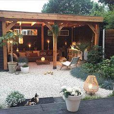85 Cozy Backyard Patio Deck Design Ideas - Home Decor Gayam Small Backyard Design, Small Backyard Patio, Backyard Patio Designs, Backyard Landscaping, Patio Ideas, Landscaping Ideas, Pergola Ideas, Porch Ideas, Backyard Ideas