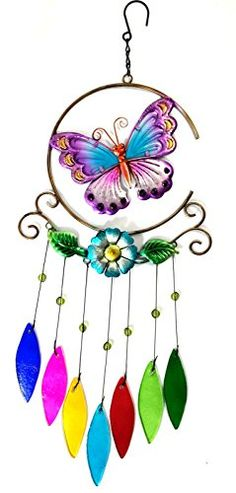 Bejeweled Display® Unique Beautiful Butterfly w/ Stained Glass Wind Chimes Bejeweled Display http://www.amazon.com/dp/B00MLNZZJA/ref=cm_sw_r_pi_dp_K6s3vb0ZJC6X9