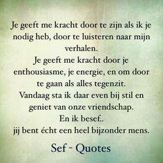 Sef quotes # vriendschap