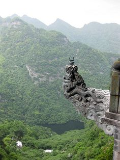 Nantan Temple: Wudang Mountains, China Incense offered up at Nanchang temple in Nanyan brings this dragon to life. Zhenwu, the Lord of Wudang and protector of Taoism is said to have left his mortal body behind at this spot and his immortal soul rose up to the top of the mountain, Jin Ting.