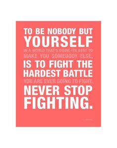 Dont Ever Stop Fighting!!