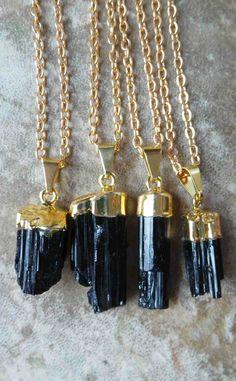 Small Black Tourmaline necklace