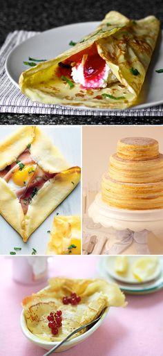 creps dolços, salats i en pastis