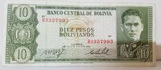 Bolivia 1962 Banknotes 10 Pesos Diez Pesos Bolivianos Asian Real currency Bolivia, Banknote, Asian, Personalized Items, Weights