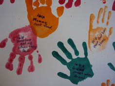 cows go moo and ducks go quack: Handprints: Helping Hands Craft Addition from the Good Samaritan Lesson