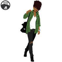 61 Super Ideas For Black Art Afro Queens Black Love Art, Black Girl Art, Black Girls Rock, Black Girl Magic, Art Girl, Black Cartoon, Cartoon Art, African American Art, African Art