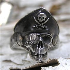 small pirate skull ring by Skinny Dog Design Group