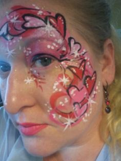 Valentines hearts face painting
