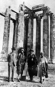 Rogery Fry, Margery Fry, Virginia Woolf and Leonard Woolf in Greece in 1932