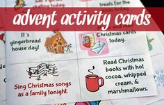 Advent Activity Cards {Free Printable} | Let's Explore