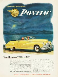 Pontiac Torpedo Convertible 1947 - Mad Men Art: The 1891-1970 Vintage Advertisement Art Collection