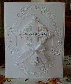 White on white sympathy card.