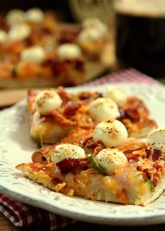 Bacon, Jalapeno and Cream Cheese Pizza