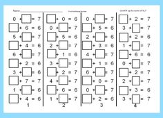 Find the Missing Number, Unknown Number in an Addition Pro Missing Number Worksheets, Mental Maths Worksheets, First Grade Math Worksheets, Homeschool Worksheets, Subtraction Worksheets, 4th Grade Math, Worksheets For Kids, Math Activities, Basic Math