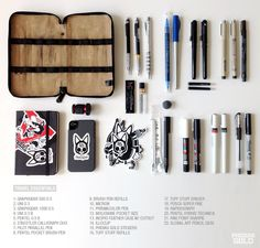 Creative Catch, Likes, Supplies, Essentials, and Phidias image ideas & inspiration on Designspiration Drawing Tools, Drawing Bag, Human Drawing, Drawing Ideas, Watercolor Kit, Posca, Urban Sketching, Travel Kits, Moleskine