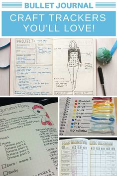 These bullet journal craft trackers are just what i need to keep on top of my projects! How To Bullet Journal, Bullet Journal Tracker, Bullet Journal Ideas Pages, Bullet Journal Layout, Bullet Journal Inspiration, Bullet Journals, Project Planner, Bullet Journal Project Planning, Planner Ideas