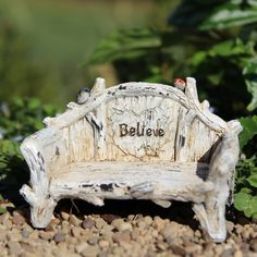 Believe Bench: Fairy Garden