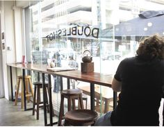 Braamfontein | Doubleshot-koffiewinkel #braamfontein #doubleshot A Table, Dining Table, South Africa, Restaurant, City, Home Decor, Cafes, Rice, Decoration Home
