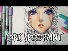 COPIC Speedpaint: Lady★Outlines by Nao-Ren - YouTube