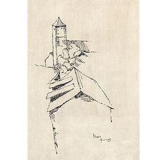 Turm, um 1966 - Leopold Hauer | Werke | Galerie Kopriva Krems Paul Flora, Art, Modern Art, Kunst, Art Education, Artworks