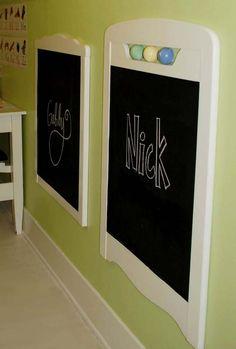 chalkboard from cot -headboards