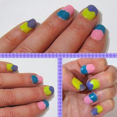 my o.p.i. easter nails:  pink = pink friday  green = did it on 'em  teal = fly  purple = planks a lot
