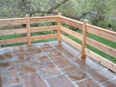 Deck railing corner posts Deck in 2019 Wood deck