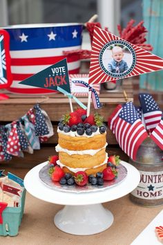 Red, White, and Blue Patriotic First Birthday Party!