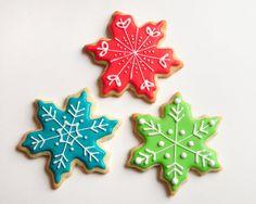 Colorful Snowflake Sugar Cookies