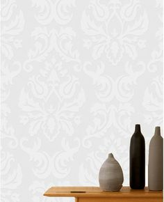Beautiful Subtle Damask Wallpaper. Large Damask Paintable Wallpaper from www.grahambrown.com