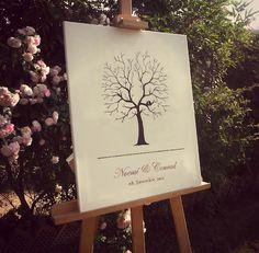 Mi arbol de boda. Los invitados estamparán sus huellas para crear las hojas del arbol