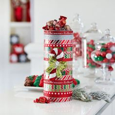Mix and match your favorite holiday washi tapes to create a one-of-a-kind treat for friends, fam...