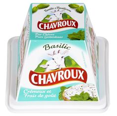 Chavroux geitensmeerkaas met basilicum, 13,5% vet