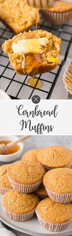 These light and fluffy cornbread muffins are so quick and easy to make and are perfect to serve up as a side with so many meals. Ready to serve in 30 minutes and easily made gluten-free. Muffin Recipes, Brunch Recipes, Breakfast Recipes, Snack Recipes, Dessert Recipes, Snacks, Breakfast Ideas, Bread Recipes, Easy Recipes