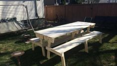 New diy table folding ana white Ideas Folding Picnic Table Plans, Build A Picnic Table, Woodworking Shop Layout, Woodworking Bench Plans, Woodworking Store, Learn Woodworking, Woodworking Machinery, Diy Bench, Outdoor Tables