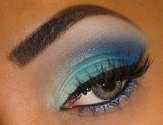 blue sombra shadow eyes make up maquillaje ojos suave soft dia day