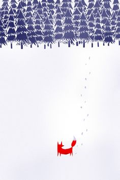 Alone in the forest Art Print by Robert Farkas - I like the trees - they would be fun to do on potato stamps.