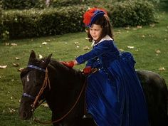 Bonnie's blue riding habit in Gone with the Wind.