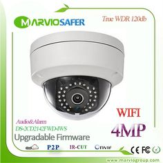 113.24$  Watch more here  -  English 4MP Outdoor Wireless WIFI Network IP Camera DS-2CD2142FWD-IWS WI-FI IPCam Camaras, POE Audio Alarm