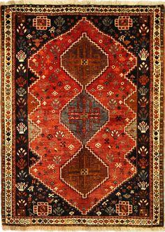 Handmade Qashqai Carpet 192 x 111 cm,6.3 x 3.64 ft