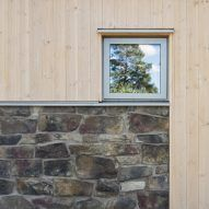 Image 12 of 18 from gallery of Hus Nilsson / Tina Bergman Architect. Photograph by Peter Guthrie 2017 Design, Cabin Design, Brick Fireplace, Building Materials, Architecture Details, Terrace, Living Spaces, New Homes, Exterior
