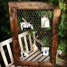 Chicken Wire Frame 24x36 by MintageDesigns on Etsy, $69.00