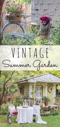 A Vintage Summer Garden Tour That Includes Ideas For A She Shed And Some  Budget Friendly
