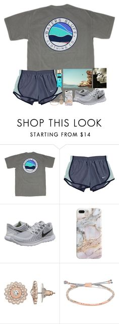 """Bucket List: Cliff Jumping in Paros."" by erinleigh02 ❤ liked on Polyvore featuring NIKE, Recover, LC Lauren Conrad, Gorjana and Victoria's Secret"